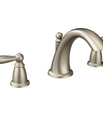 Moen Brantford 2-Handle Deck-Mount Roman Tub Faucet Trim Kit in Brushed Nickel (Valve Not Included)