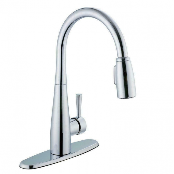 Glacier Bay Single Handle Pull Down Sprayer Kitchen Faucet Soap Dispenser