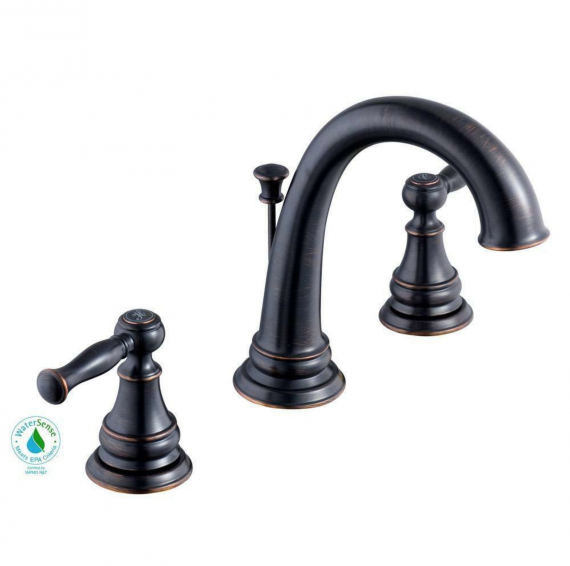 Glacier Bay Fairway 8 in. Widespread Bathroom Faucet in Bronze, 67487-6227H2
